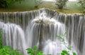 Paradise waterfall huay mae kamin waterfall in kanchanaburi thailand Royalty Free Stock Image