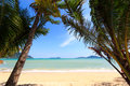 Paradisiac beach in Phuket Royalty Free Stock Images