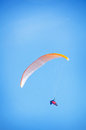 Paraglider in the blue sky Stock Photos