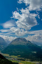 Paraglider in ingadin switzerland high the sky Royalty Free Stock Images