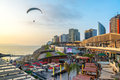Paraglider in Lima, Peru Royalty Free Stock Photo