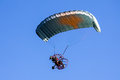 Paraglider moto on the sky Royalty Free Stock Image