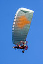 Paraglider moto on the sky Royalty Free Stock Photos