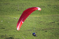 Paraglider over the scottish moors Stock Photos