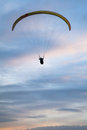 Paraglider in the sky the feeling of freedom Stock Image