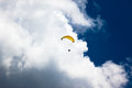 Paraglider Storm Clouds Blue  Stock Photography