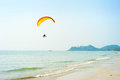 Paraglider at the tropical beach on koh chang island thailand Royalty Free Stock Image