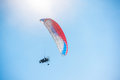 Paragliding in mountains Royalty Free Stock Photo