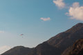 Paragliding in oludeniz turkey resort Royalty Free Stock Image