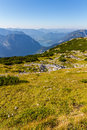 Paragliding over the Alps, Dachstein Mountain, Austria Royalty Free Stock Photo