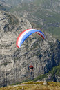Paragliding over mountains Royalty Free Stock Photo