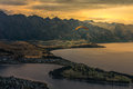 Paragliding over Queenstown, New Zealand Royalty Free Stock Photo
