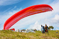 Paragliding in Slovenia Royalty Free Stock Image