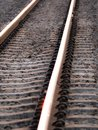 Parallel Lines of The railroad Royalty Free Stock Photo