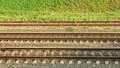 Parallel rail lines Royalty Free Stock Photo