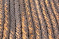 Parallel rope braided lying next to each other in Royalty Free Stock Photos