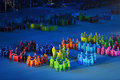 Paralympic winter games sochi adler russia mar the closing ceremony of the at stadium fisht in olympic park Stock Photo