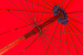 Parapluie rouge Photo stock