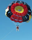 Parasailing at Punta Cana Royalty Free Stock Images