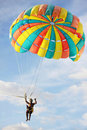 Parasailing on sky background Stock Images