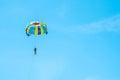 Parasailing and sky blue,Phuket. Royalty Free Stock Photo