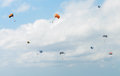 Parasailing in the sky Royalty Free Stock Photo