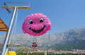 Parasailing two people up in the air para sailing Stock Image