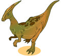 Parasaurolophus dinasour illustration of a ever lived in what is now north america during the late cretaceous period about – Stock Photo