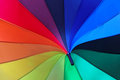 Parasol rainbow in all colors of Royalty Free Stock Images