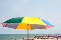Parasol on tropical beach in thailand Stock Photos