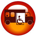 Paratransit icon Stock Images
