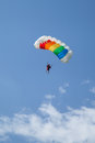Paratrooper in the competition red bull smaranda order bucharest romania june girl descending dedicated exclusively to women Stock Photo