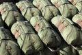 Paratrooper parachutes Stock Photos