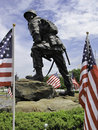 Paratrooper statue Royalty Free Stock Photo
