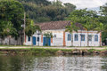 Paraty historical building rio de janeiro brazil a colonial at downtown at the shore of the river Stock Images