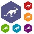 Parazavrolofus icons set hexagon