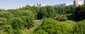 Parc of Buttes Chaumont in Paris _france Stock Images