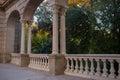 Parc de la ciutadella part of fountain in barcelona Royalty Free Stock Photo