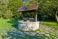 Parc de la tête d or wishing well located within the one of lyon s largest urban parks Stock Photos