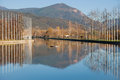 Parc del segre park of la seu de urgell catalonia Stock Photography
