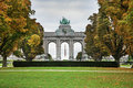Parc du Cinquantenaire - Jubelpark in Brussels. Belgium Royalty Free Stock Photo