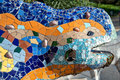 Parc guell barcelona park catalunya spain the famous guadi lizard at in in the catalonia region of spain photo Stock Photo