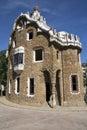 Parc Guell - Barcelona - Spanien Arkivfoto