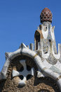 Parc Guell - Barcelona - Spanien Royaltyfria Foton