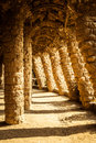 Parc guell detail of this corner of in barcelona Royalty Free Stock Image