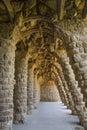 Parc Guell Hiszpania - Barcelona - Zdjęcie Stock