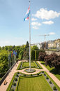 Parc in historical center of Luxembourg city Stock Photos