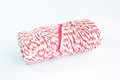 Parcel rope on white background Stock Image