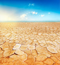 Parched earth Stock Photography