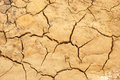 Parched land brown muddy ground and cracked background Stock Photography